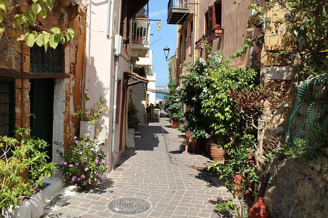Crete, Street, Chania, Canea, Hanya, Narrow, Holidays
