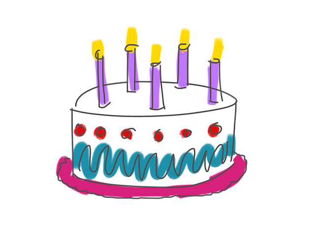 Birthday, Cake, Candles, Five, Happy Birthday