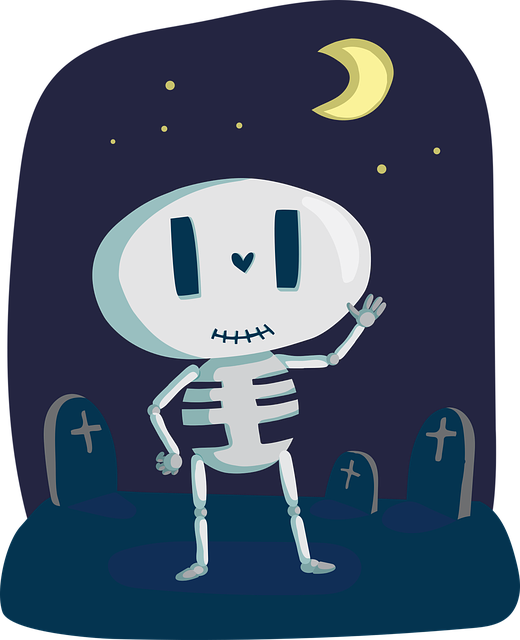 Skeleton, Cute, Bone, Halloween, Happy, Holiday