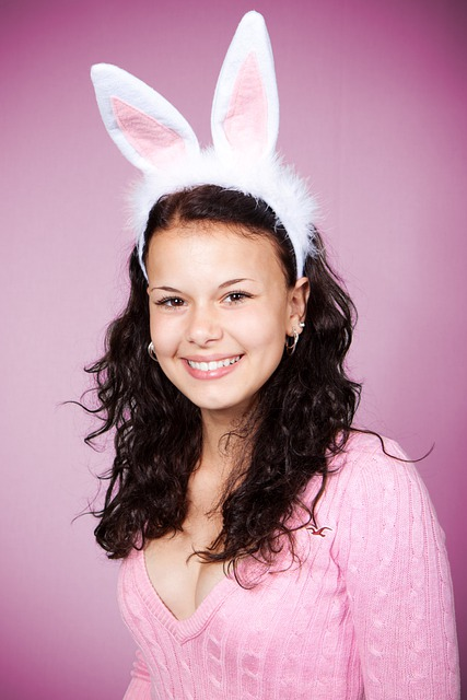 Bunny, Costume, Cute, Ears, Easter, Female, Girl, Happy