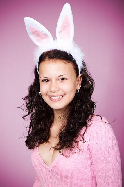 Bunny, Costume, Cute, Ears, Easter, Female, Girl, Happy