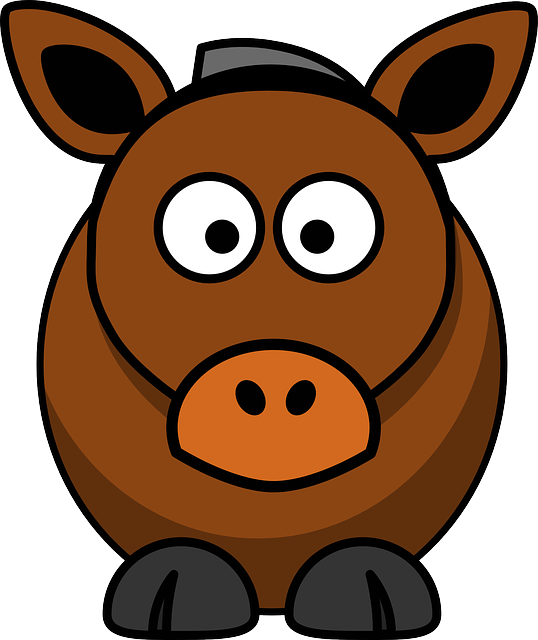 Horse, Cow, Animal, Brown, Funny, Happy, Mammal, Donkey