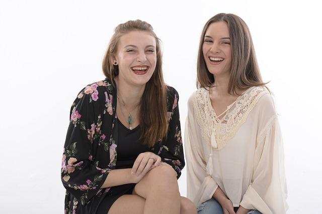 Laughing, Girls, Happy