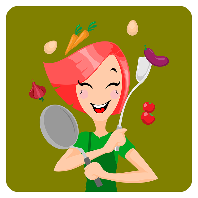 Cooking, Girl, Food, Young, Woman, Cook, Happy, Meal