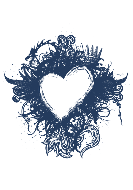Heart, Framing, Heart-shaped, Blue, Happyvalentine's