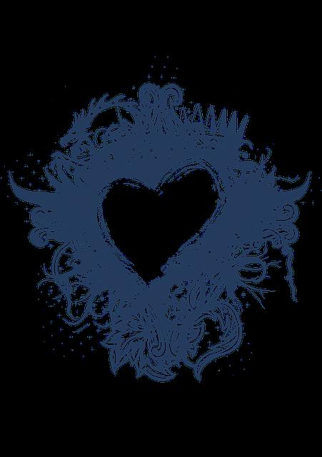 Heart, Framing, Heart-shaped, Blue, Happyvalentine's