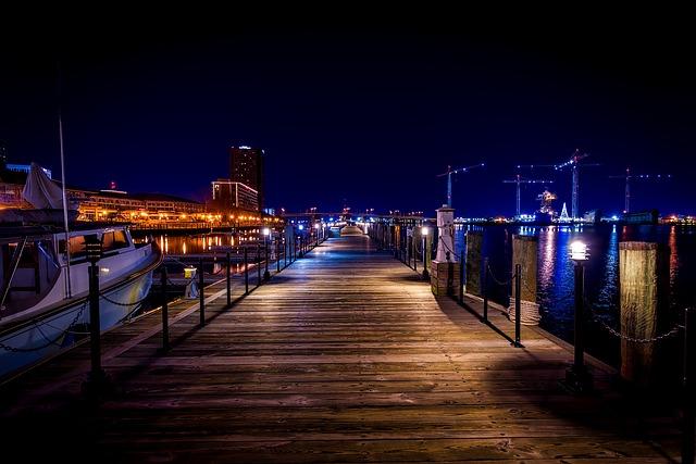 Norfolk, Virginia, Marina, Harbor, Bay, Pier, Dock, Hdr