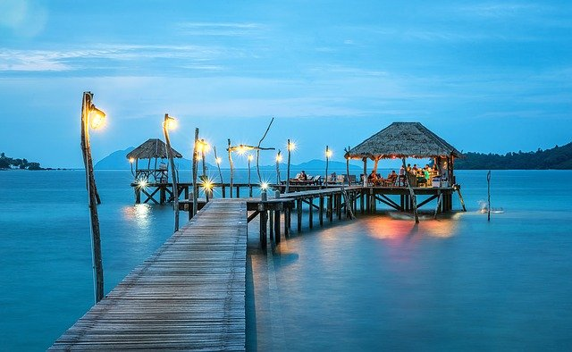 Jetty, Thailand, Ocean, Sea, Resort, Harbor, Bungalow