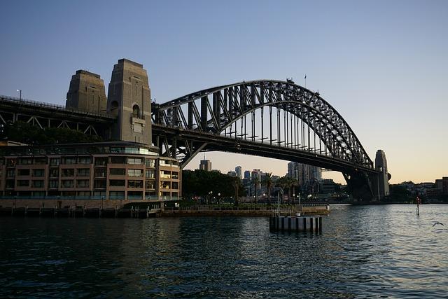 Sydney, Harbour Bridge, Early, Australia, City
