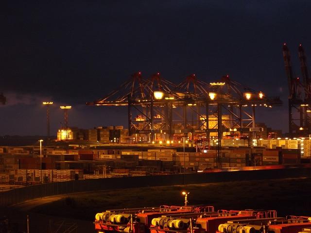 Container Port, Port, Port Handling, Harbour Cranes