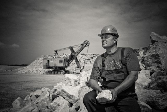 Adult, Construction, Hard Hat, Man, Mine, Outdoors