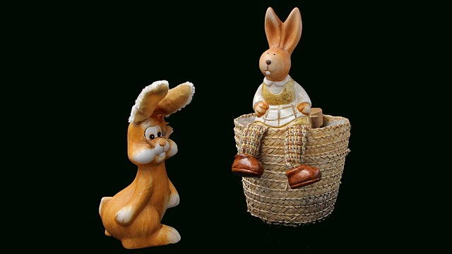 Background, Easter, Ornament, Figurine, Hare