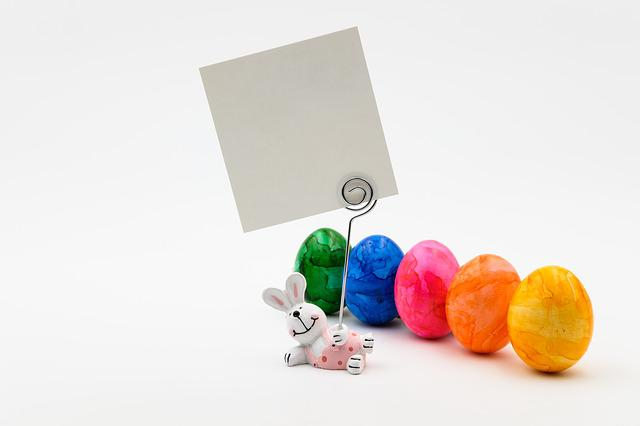 Easter Bunny, Hare, Figure, Message, Easter Eggs
