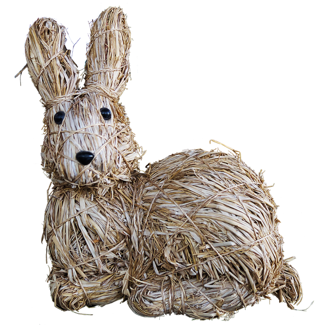 Easter Decoration, Easter, Hare, Straw Bunny