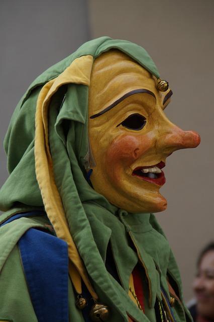 Castle Fool, Court Jester, Harlequin, Schalk, Figure