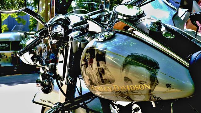 Harley Davidson, Motorcycle, Elvis