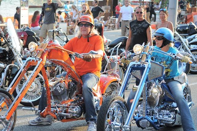 Harley Davidson, Moto, Switzerland, Bikers