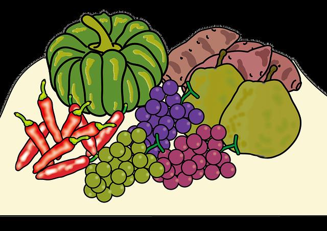 Autumn, Harvest, Vegetables, Pumpkin, Grape, La France