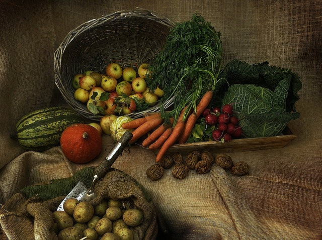Harvest, Thanksgiving, Pumpkin, Vegetables, Decoration