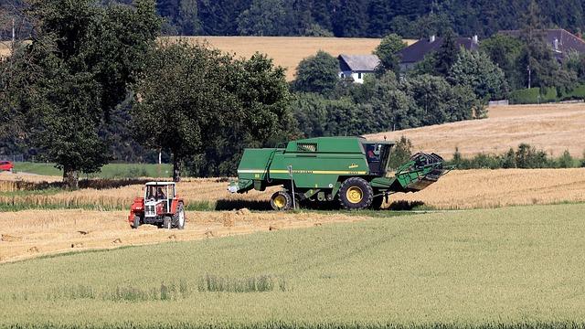 Harvest, Tractor, Combine Harvester, Agriculture