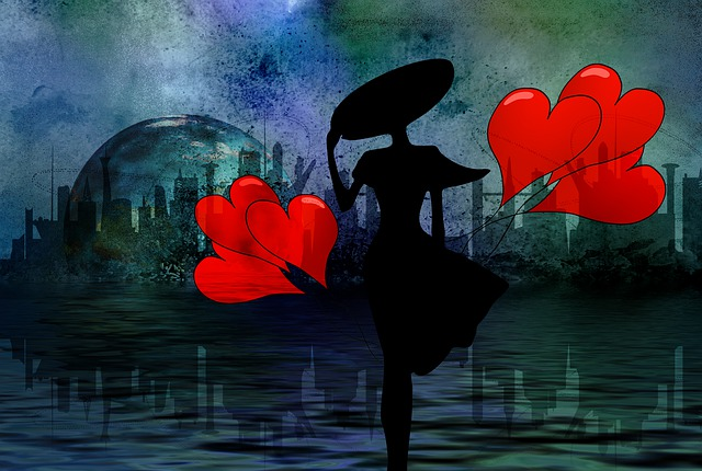 Digital Creation, Romance, Love, Heart, Hat