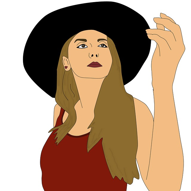 Woman, Hat, Selfie