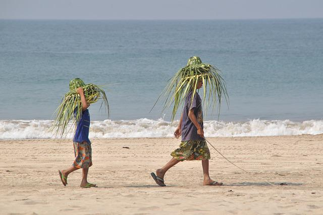 Beach, Hats, Hat, Sea, Summer, Water, Sand, Straw Hat