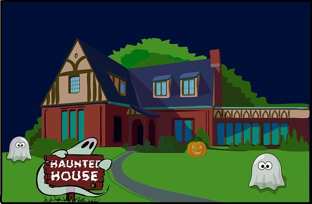 Halloween, Haunted House, Ghosts