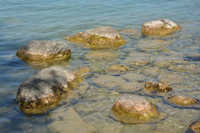 Rocks, Water, Lake, Annecy, Haute Savoie, Light