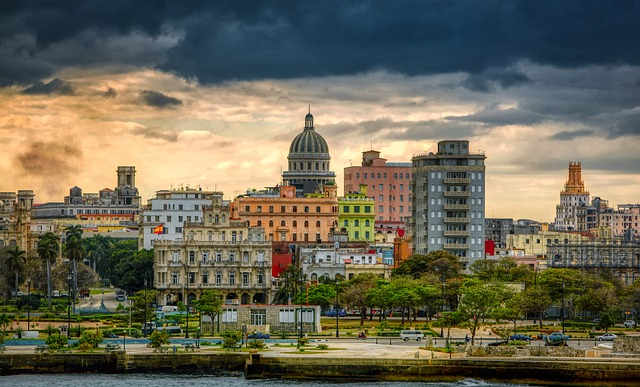 Havana, Cuba, City, Urban, Sea, Wharf, Skyline