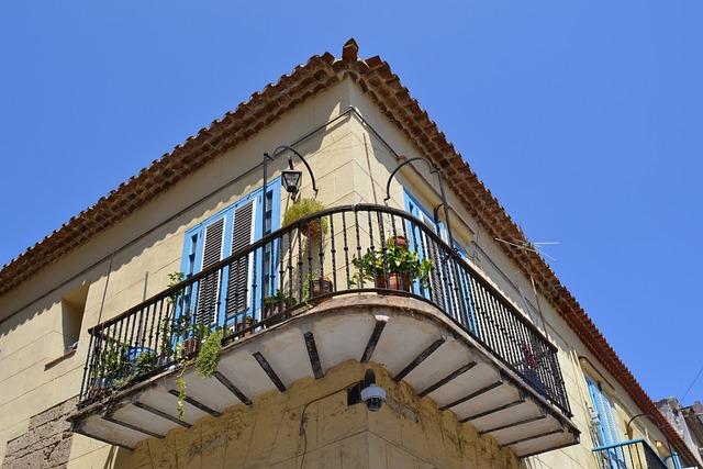 Havana, Cuba, Home, Facade, Building