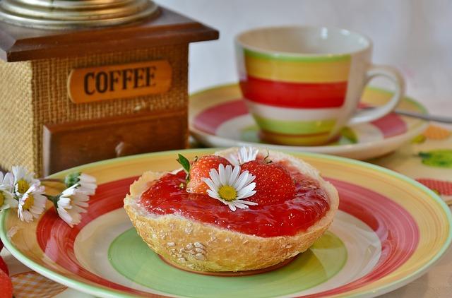 Breakfast, Roll, Have Breakfast, Strawberries