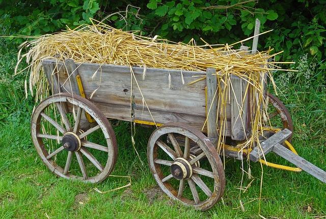 Straw Carts, Straw Car, Routes, Hay Wagon, Cart, Towbar