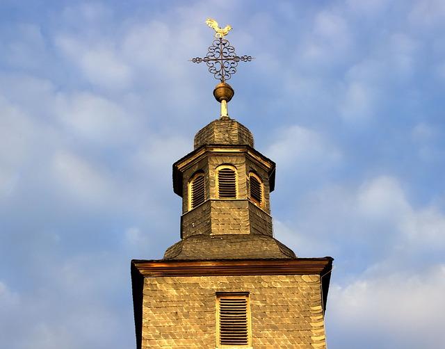 Steeple, Old Town, Three Oak Grove, Hayn, Historically