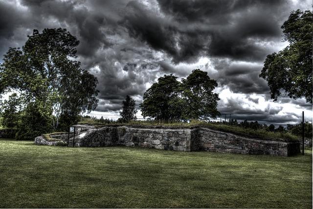 Church Ruin, Ruin, Hdr, Lawn, Sweden, Landscapes, Green