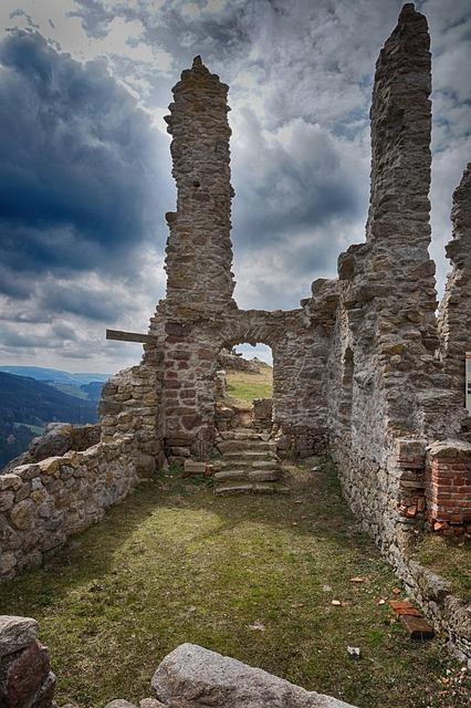 Ruin, Waxenberg, Hdr, Substantiate, Stones, Building