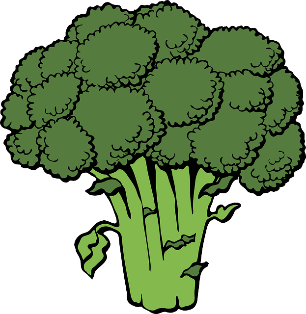 Broccoli, Bunch, Head, Green, Cruciferous, Healthy