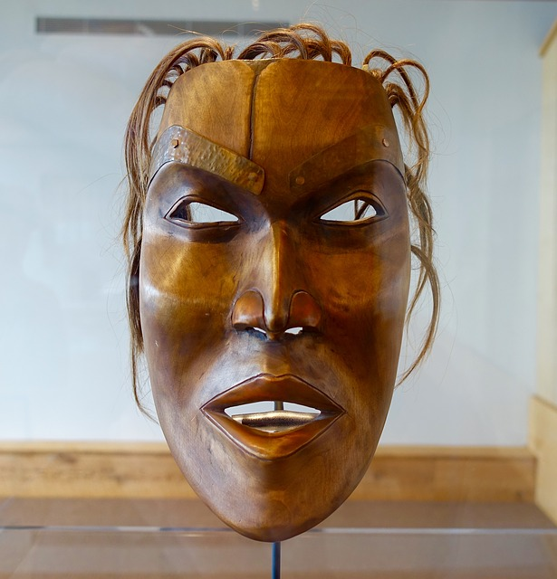 Mask, Canadian, Head, Wooden