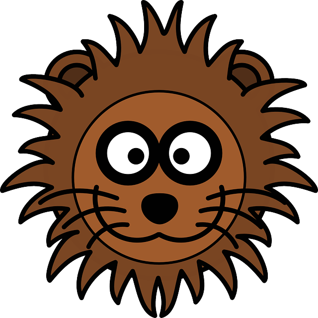 Lion, Head, Cat, Mane, Grinning, Zoo, Cartoon, Wildlife