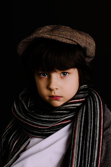 Boy, Scarf, One, Portrait, Fashion, People, Headdress
