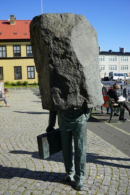 Sculpture, Headless, Stone, Reykjavik, Artwork, Iceland