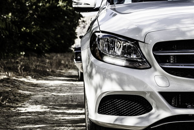 Mercedes-benz, Car, White, White Car, Headlight