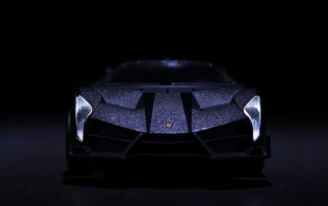 Lamborghini, Headlight, Miniature, Mysterious, Lowkey