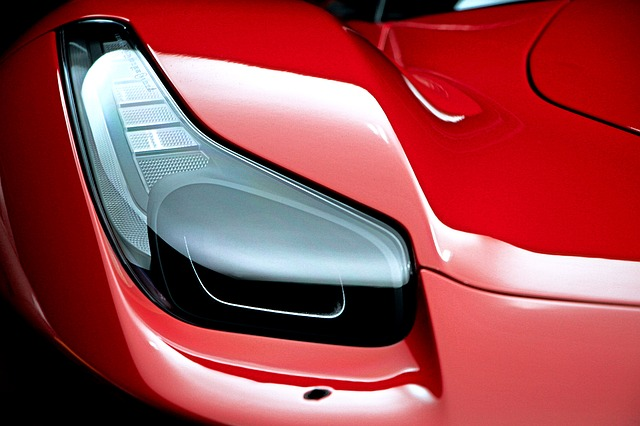 Ferrari, Car, Red, Headlight