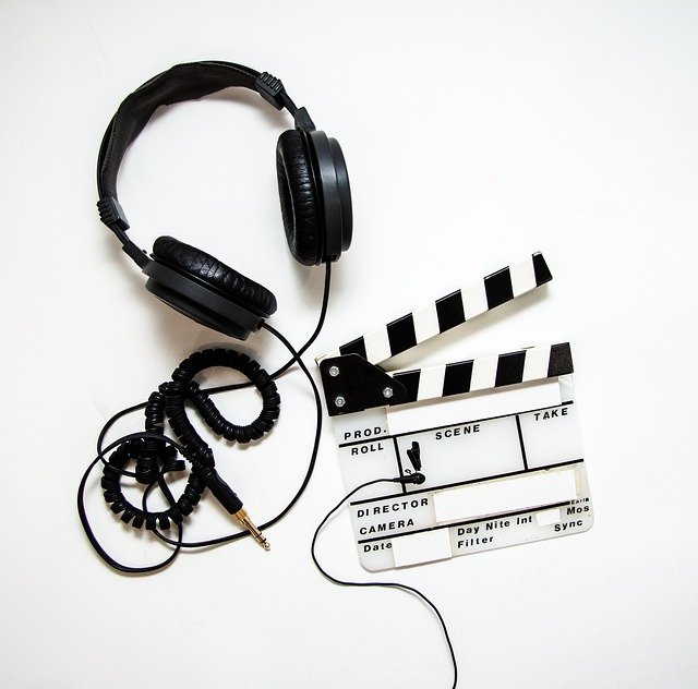 Video Production, Headphones, Lavalier, Clapper