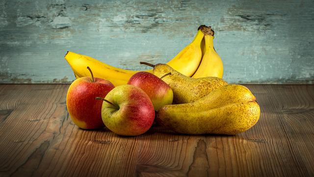 Fruit, Vitamins, Health, Sweet, Bananas, Pear, Pears