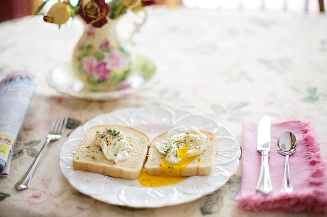 Poached Eggs On Toast, Breakfast, Healthy, Brunch