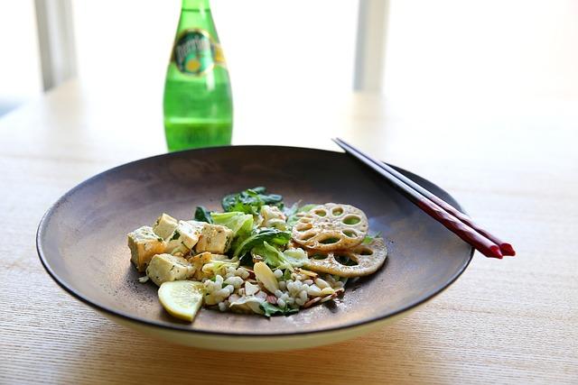 Healthy, Organic, Tofu, Salad, Health, Food