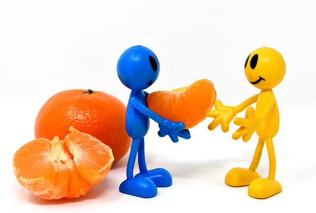 Friends, Mandarin, Fruit, Healthy, Vitamins, Parts