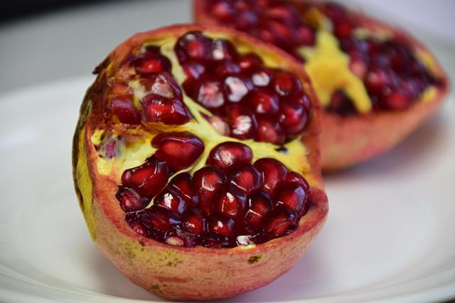 Pomegranate, Red, Fruit, Healthy, Vitamins, Delicious
